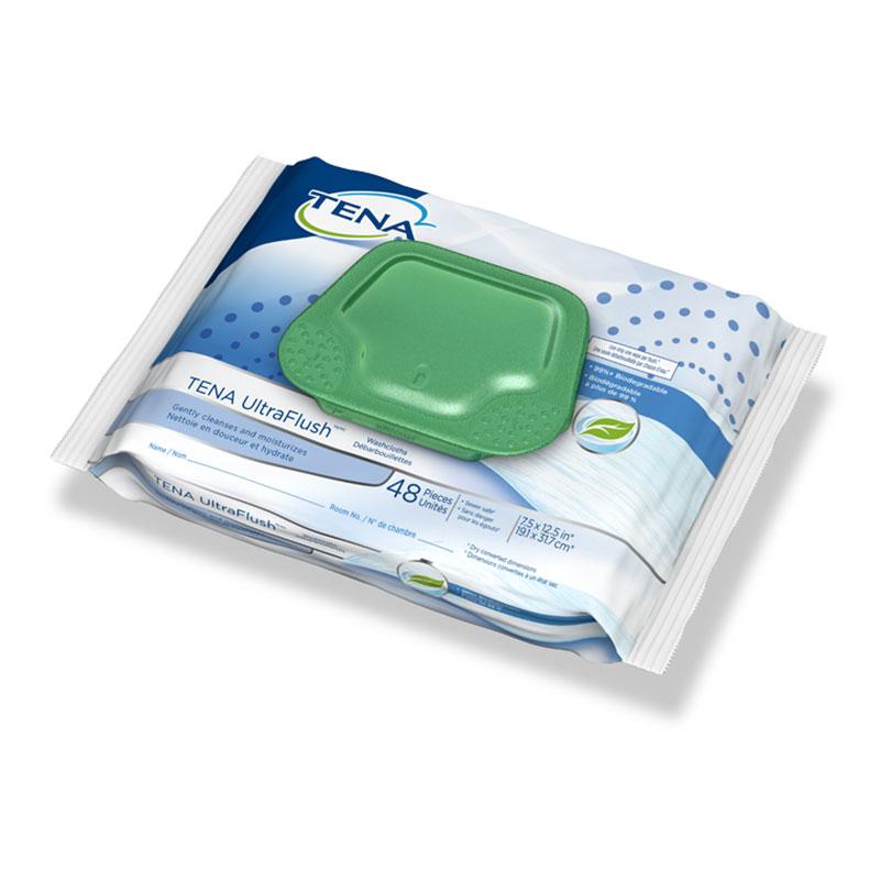 TENA UltraFlush Washcloths, 7.5