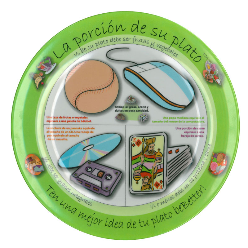 The Portion Plate for Adults - Spanish - Pack of 7