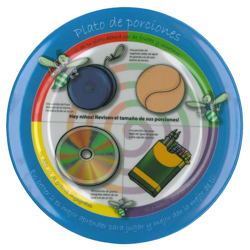 The Portion Plate for Kids - Spanish - Pack of 2