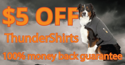 $5.00 OFF – Thundershirt Coupon - THUNDER5