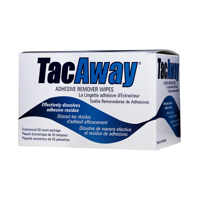 Torbot TacAway Adhesive Remover Wipes MS408W - Box of 50