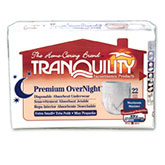 Tranquility Premium OverNight Absorbent Underwear, XS (17-28 inch)