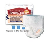 Tranquility Premium OverNight Abs Underwear Small 22-36 2114 4/Bag