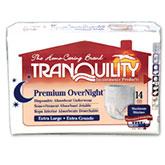 Tranquility Premium OverNight Absorbent Underwear, XL (48-66 inch)