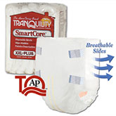 Tranquility SmartCore Brief 2X-Large 60-80 White 2315 4/Bag