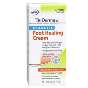 TriDerma Diabetic Foot Defense Cream 2oz Pack of 3