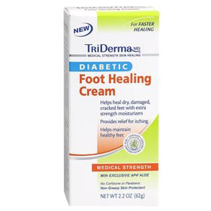 TriDerma Diabetic Foot Defense Cream 4oz Pack of 3