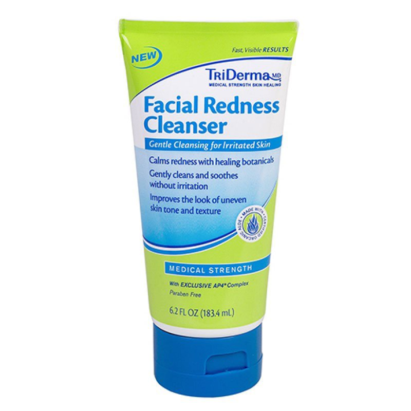 TriDerma Facial Redness Cleanser Pack of 3