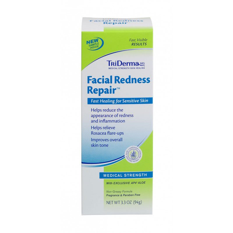 TriDerma Facial Redness Repair Cream Pack of 3