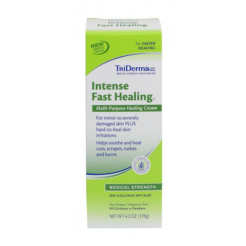 TriDerma Intense Fast Healing Skin Cream 4oz Pack of 3