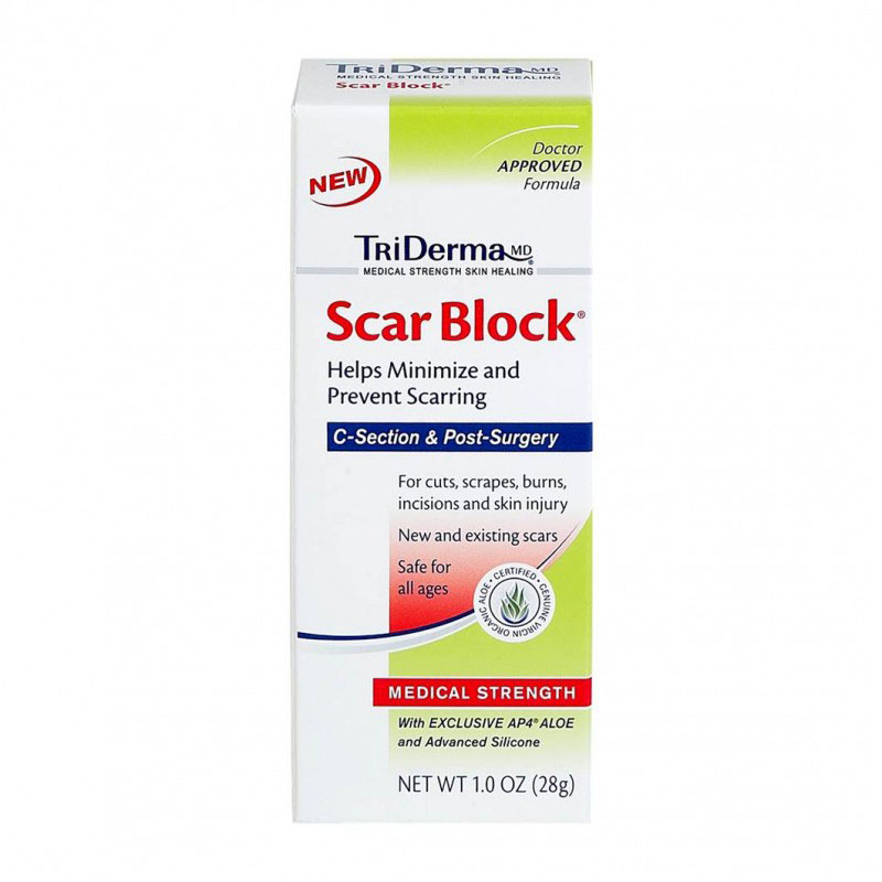 TriDerma Scar Block Cream 2oz Pack of 3