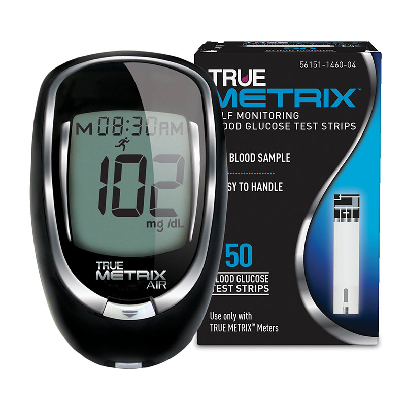 True Metrix Air Blood Glucose Meter + 50 Test Strips