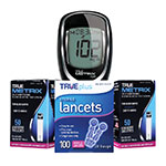 True Metrix Air Blood Glucose Meter + 100 Test Strips & 100 Lancets thumbnail