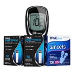 True Metrix Glucose Test Strips 100/bx & 100 Lancets With Meter thumbnail