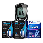 True Metrix Glucose Test Strips 200/bx & 200 Lancets and Free Meter thumbnail