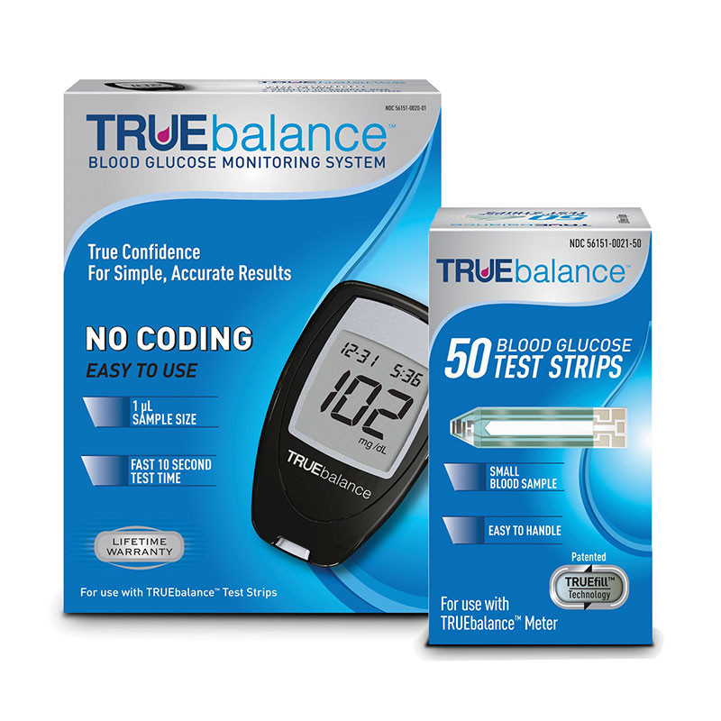 TRUEbalance Test Strips 50/bx w/ Meter Kit