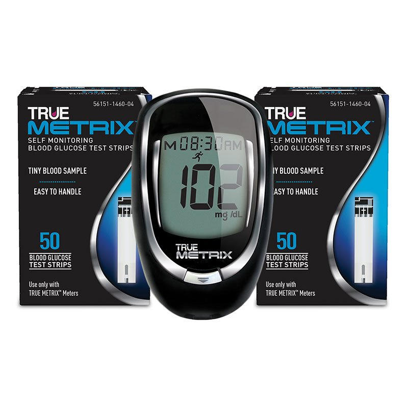 True Metrix Glucose Test Strips 100ct and Free Meter