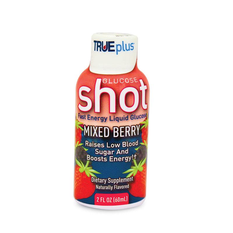 TRUEplus Glucose Shots 15 Gram 2.0oz Mixed Berry Case of 6
