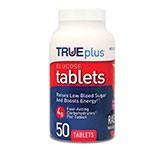 TRUEplus Glucose Tablets 4g Raspberry 50ct