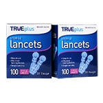 TRUEplus Sterile Lancets 28G Universal Twist Top 100/box Pack of 2