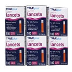TRUEplus Safety Lancets 28G Single Use 100/box Pack of 12
