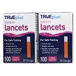 TRUEplus Safety Lancets 28G Single Use 100/box Pack of 2 thumbnail