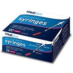 "TRUEplus U-100 Insulin Syringes 28G 1cc 1/2"" 100/box thumbnail"