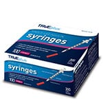 "TRUEplus U-100 Insulin Syringes 30G 3/10cc 5/16"" 100/box thumbnail"