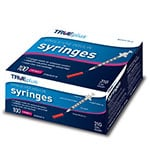"TRUEplus U-100 Insulin Syringes 31G 3/10cc 5/16"" 100/box thumbnail"