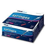 "TRUEplus U-100 Insulin Syringes 31G 1/2cc 5/16"" 100/box thumbnail"
