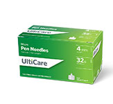UltiCare Micro Pen Needles 4mm, 32G - Case of 12