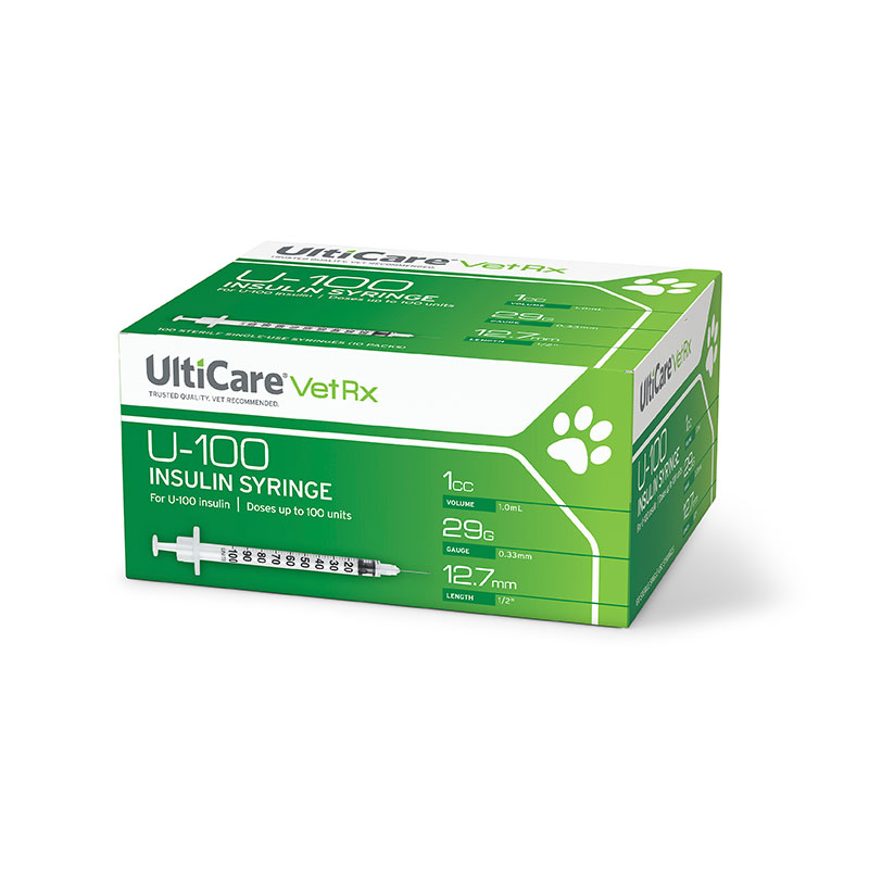 UltiCare U-100 Pet Syringes 29g 1cc 1/2 inch