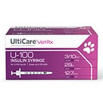 UltiCare U-100 Pet Syringes 0.3cc 12mm 29g Pack of 5
