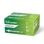 "UltiCare II U-100 Insulin Syringes Short Needle 30G 1cc 5/16"" 100/bx thumbnail"