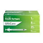 "UltiCare II U-100 Insulin Syringes Short Needle 31G 1cc 5/16"" 100/bx thumbnail"