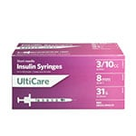 "UltiCare Ulti-Fine II U-100 Syringes 31G, 3/10cc, 5/16"" - Case of 5 thumbnail"