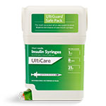 UltiCare UltiGuard U-100 Insulin Syringes 31G 1cc 5/16
