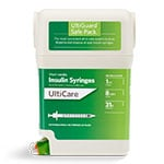 "UltiGuard UltiCare U-100 Insulin Syringes 31G 1cc 5/16"" 100/bx thumbnail"