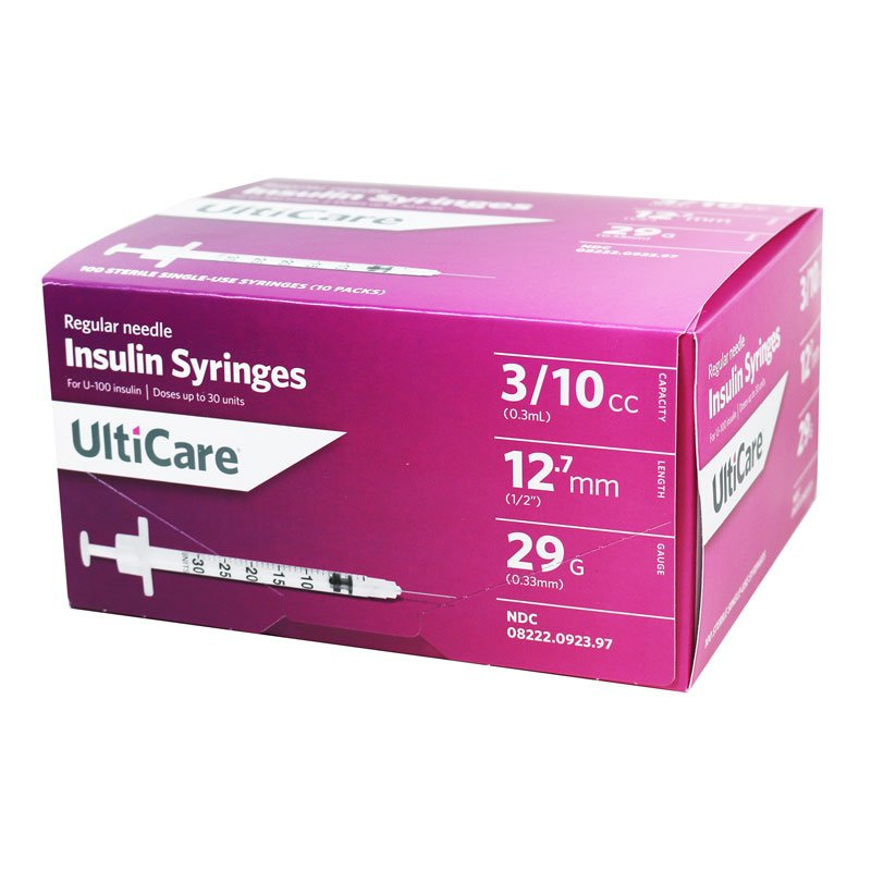 UltiCare U-100 Syringes 29G 0.3cc 12mm 29g