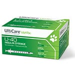UltiCare U-40 Pet Syringes 29 Gauge, 1cc, 1/2