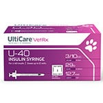 "UltiCare U-40 Pet Syringes 29G 3/10cc 1/2"" - Half Unit Mark Case of 5 thumbnail"