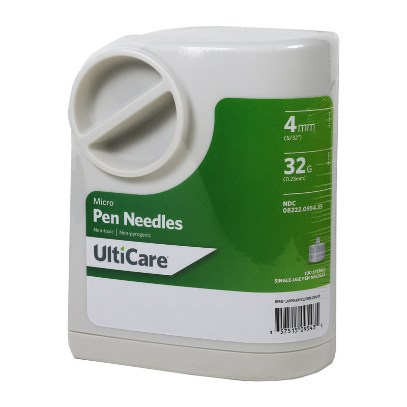 Ulticare UltiGuard Micro Pen Needles 4mm 32g x 5/32 inch 100/bx