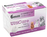 UltiCare Vet Rx Veterinary Mini Pen Needle 1/4