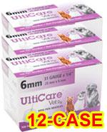 UltiCare Vet Rx Veterinary Mini Pen Needle 31g 1/4in 100/bx Case of 12