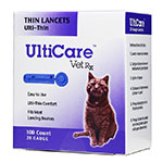 UltiCare Vet Rx Ulti-Thin Lancets 28 Gauge - Box of 100