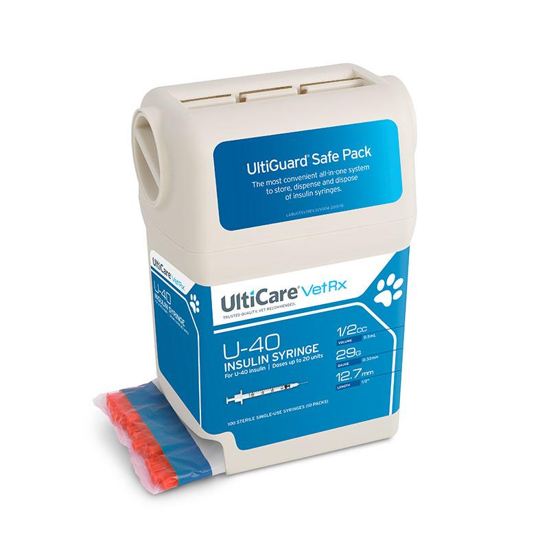 UltiGuard UltiCare U-40 Pet Insulin Syringes 29G 1/2cc 1/2