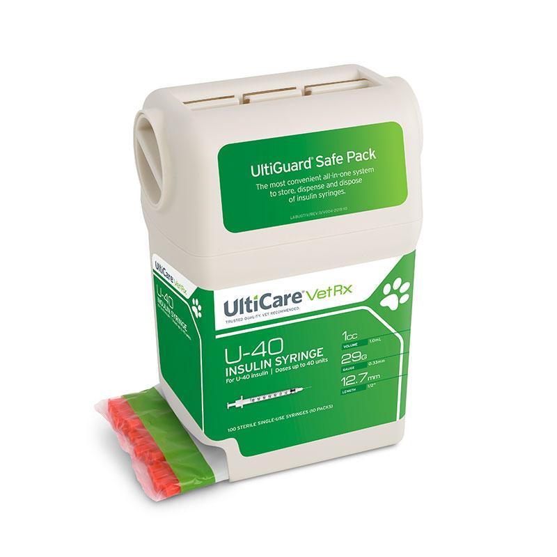 UltiGuard UltiCare U-40 Pet Insulin Syringes 29G 1cc 1/2