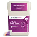 "UltiGuard UltiCare U-100 Pet Insulin Syringes 29G 3/10cc 1/2"" 100/bx thumbnail"