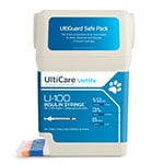 "UltiCare UltiGuard U-100 Pet Syringes 31G, 1/2cc, 5/16"" - 100ct thumbnail"