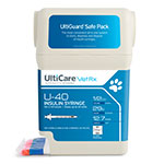"UltiCare UltiGuard U-40 Pet Syringes 29G 1/2cc 1/2"" - Half Unit 100ct thumbnail"